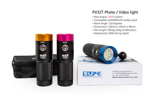 PV32T (3000 Lumens / 1200 Lumen Spot) - Flood (White, Red, Blue LEDs)