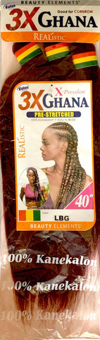 Beauty Elements Realistic X-Pression Ghana Pre-Stretched Braiding Hair 40 inches (3 Bundles)