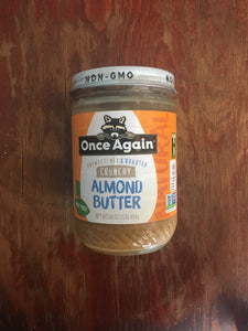 Once Again Organic Crunchy Almond Butter