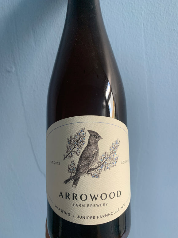 Arrowood Farms Waxwing Juniper Farmhouse Ale