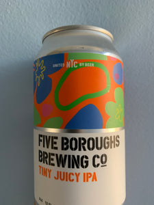 Five Burroughs Tiny Juicy IPA (12 oz.)