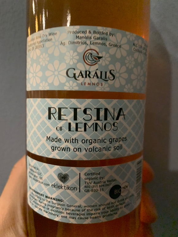 Garalis Retsina of Lemnos Rose 500mL