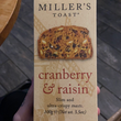 Miller's Toast - Cranberry and Raisin