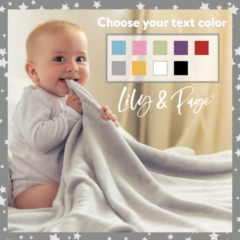 Personalized Baby Blankets, Boy or Girl Custom Name Fleece Blanket Gift 3 Lines