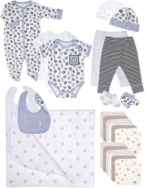 Baby Essentials, 24 Piece Boy or Girl Unisex Layette Newborn Registry Gift Set
