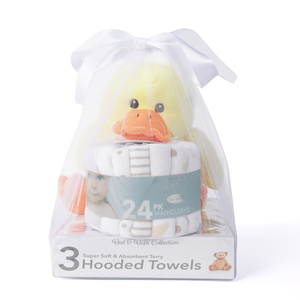 Baby Ducky Bath Washcloths Gift Set (28 Piece Baby Bath Gift Set for Baby, Neutral Adorable)