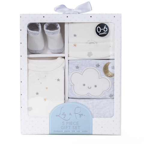 Overcomedepressionnow Newborn 5 Piece Baby Gift Set for Baby Shower, Parties, Birthdays
