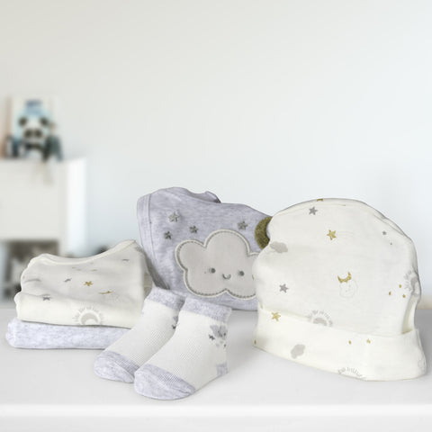 Lily and Page Newborn 5 Piece Baby Gift Set for Baby Shower, Parties, Birthdays