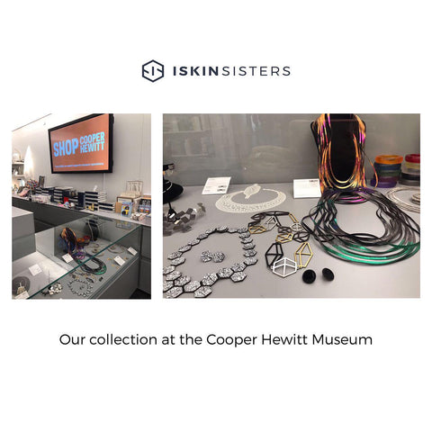 Iskin Sisters jewelry collections at the Cooper Hewitt museum shop. Accessories, necklaces, contemporary jewelry