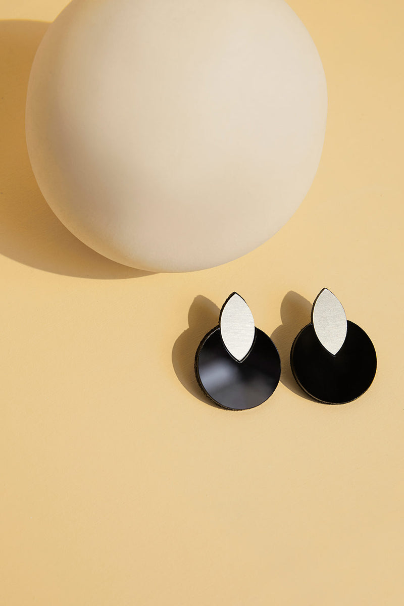 Audrey Circle Drop Earrings