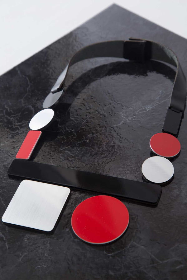 Bauhaus Necklace - Square/Circle