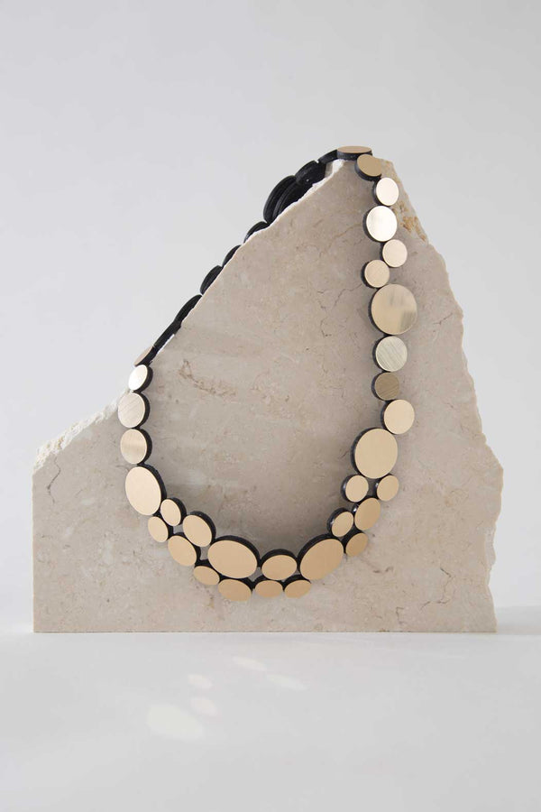 Abstraction Necklace - Fizz - Gold