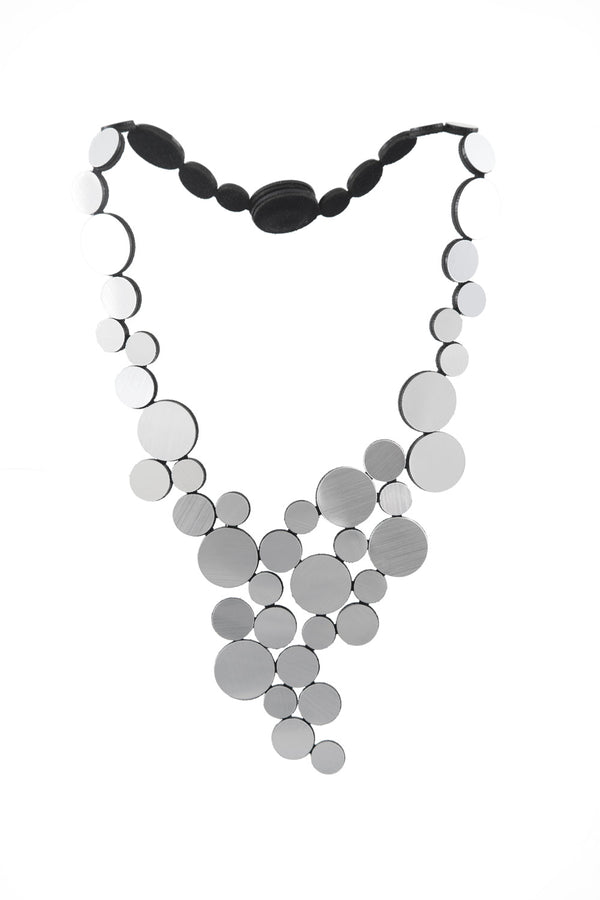 Abstraction Necklace V - Silver