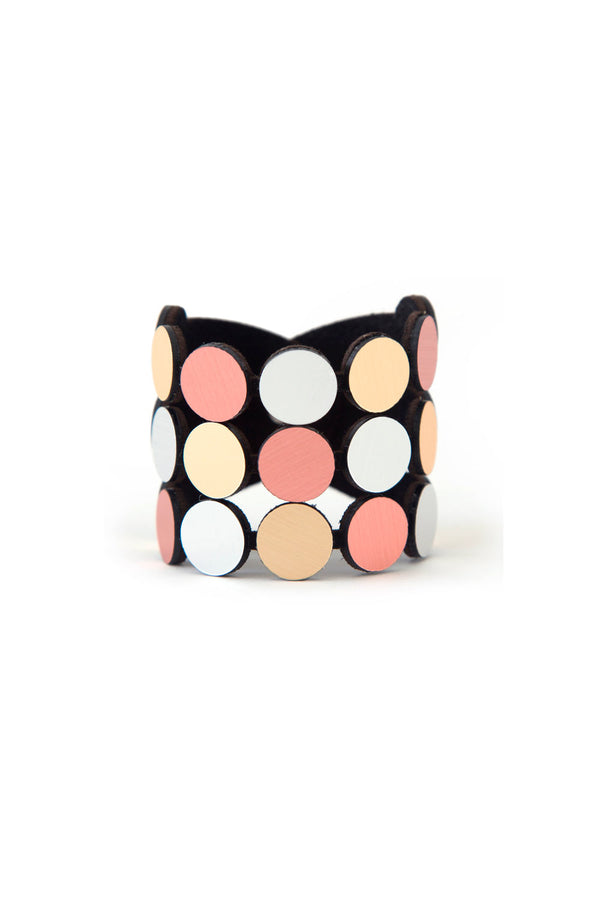Abstraction Bracelet - Silver + Gold + Rose Gold