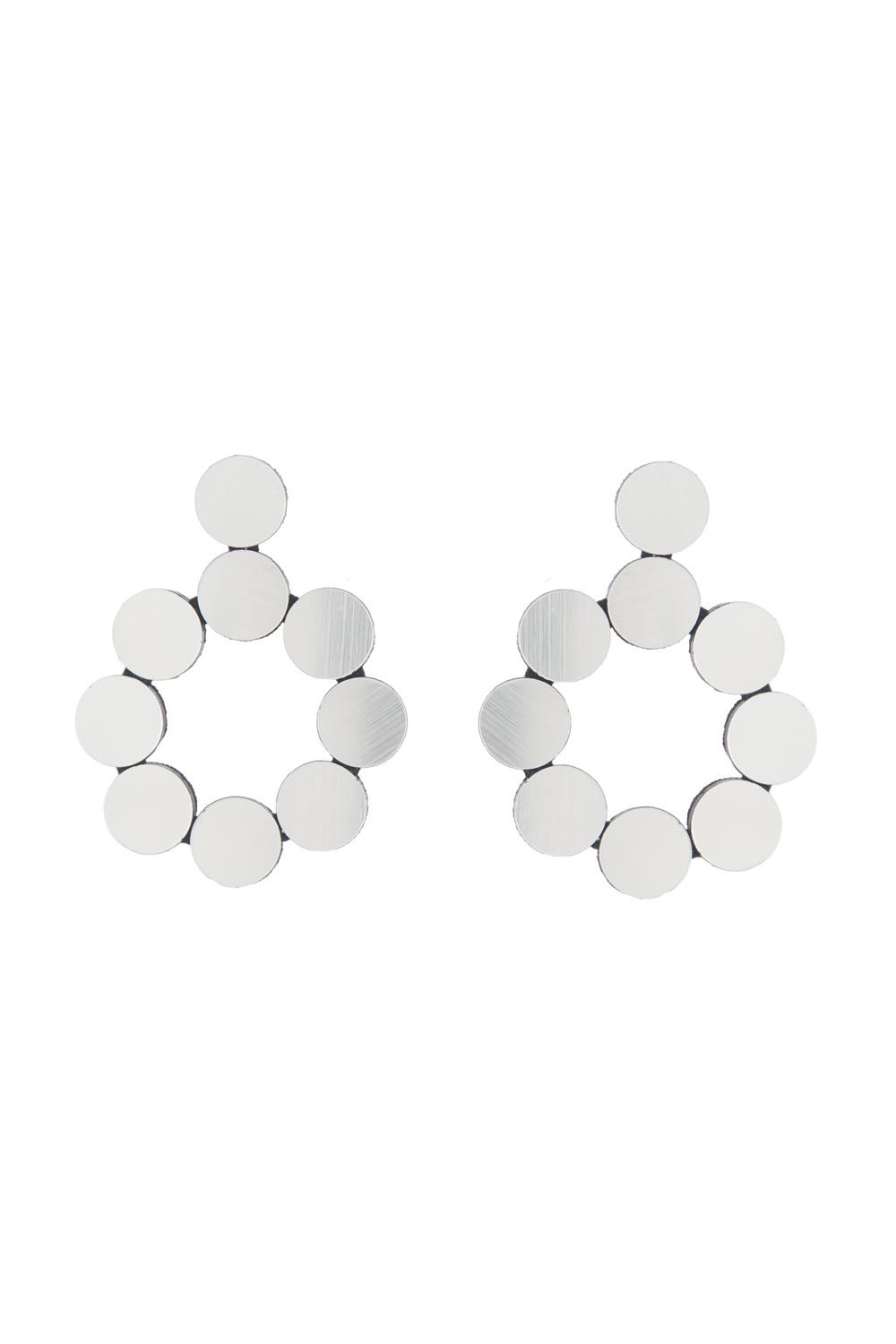 Abstraction Earrings - Drop Hoops