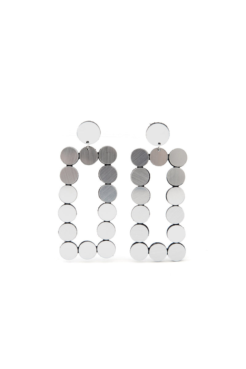 Abstraction Earrings Rectangle - Statement Earrings