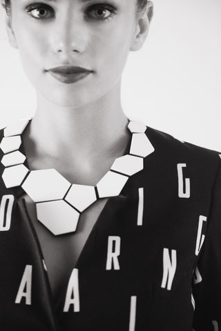 Statement Necklace - Greta Necklace - Polygon - Geometric necklace - Contemporary Jewelry