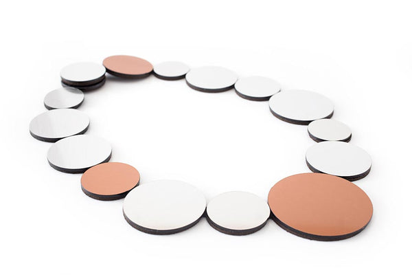 Kaia Necklace Circles - Bib necklace - Contemporary Jewelry