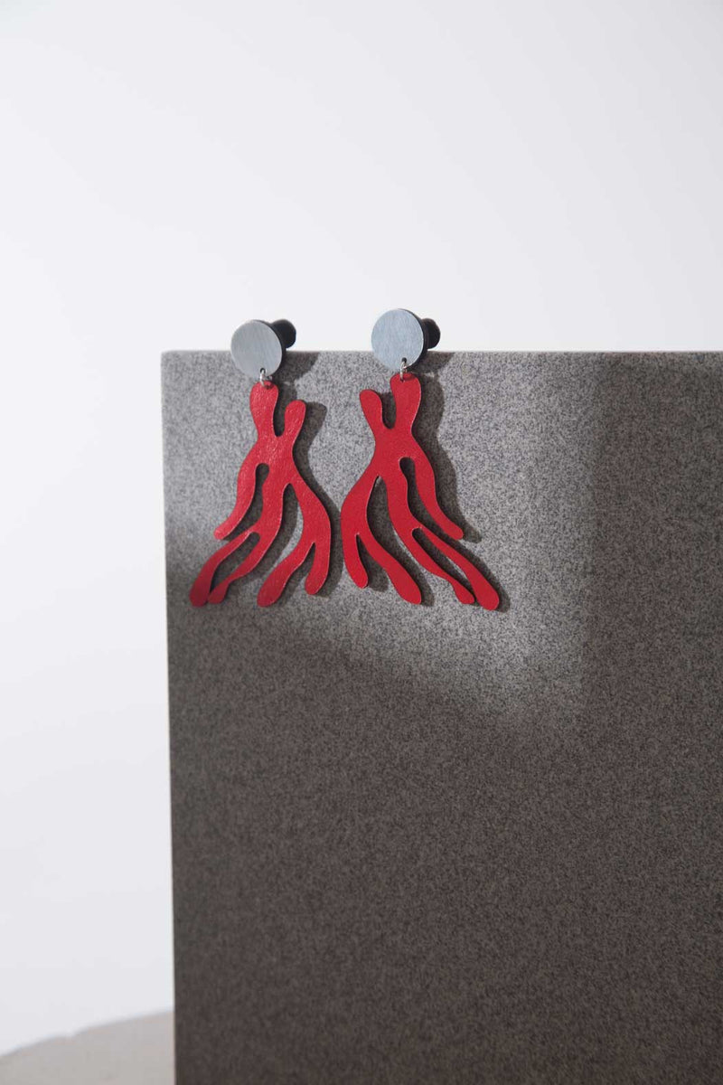 Mar New Earrings - Red