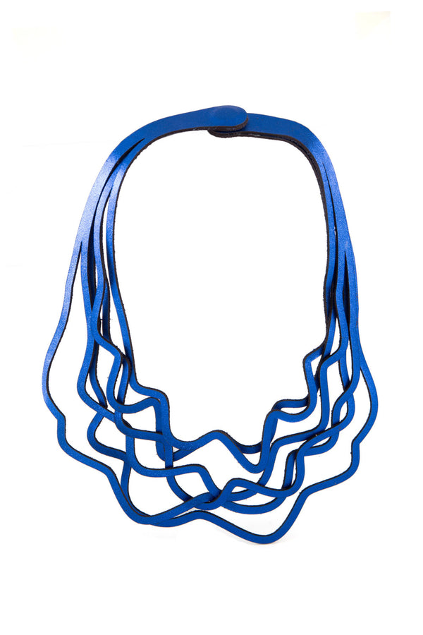 Curves Duo Necklace in Metallic Blue - Limited Edition!