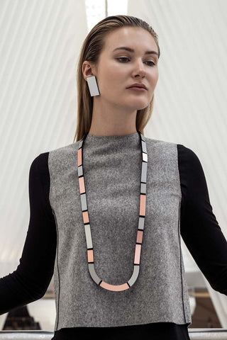 Mies Necklace U - Statement Necklace - Contemporary Jewelry by Iskin Sisters