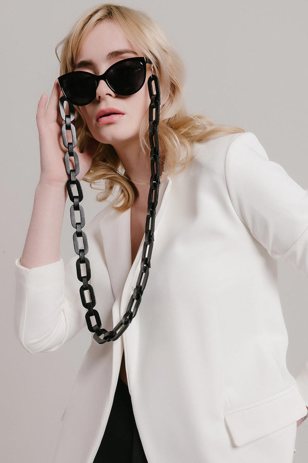 Rainbow Eyeglasses Chain - Black & White