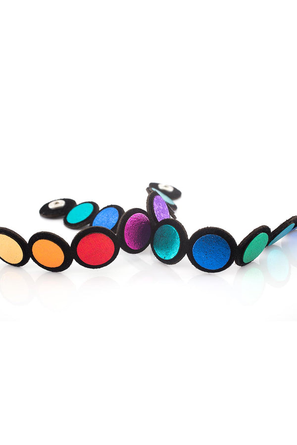 Rainbow Bracelet - Leather + Suede