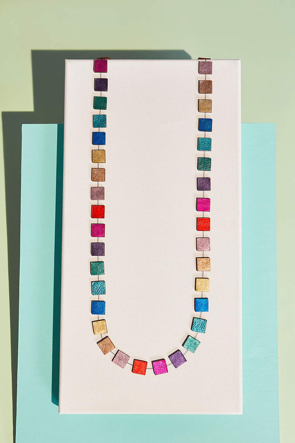 Rainbow Necklace Square Long