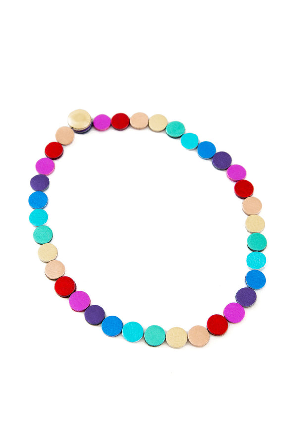 Rainbow Necklace Circles