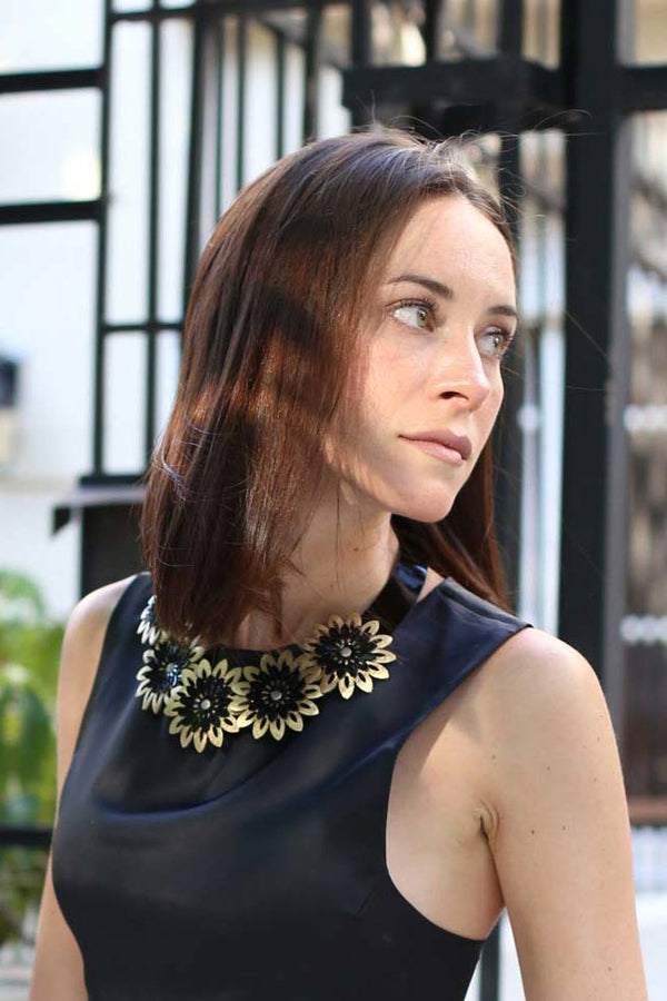 Isabella Necklace 5 Flowers - Sample Sale