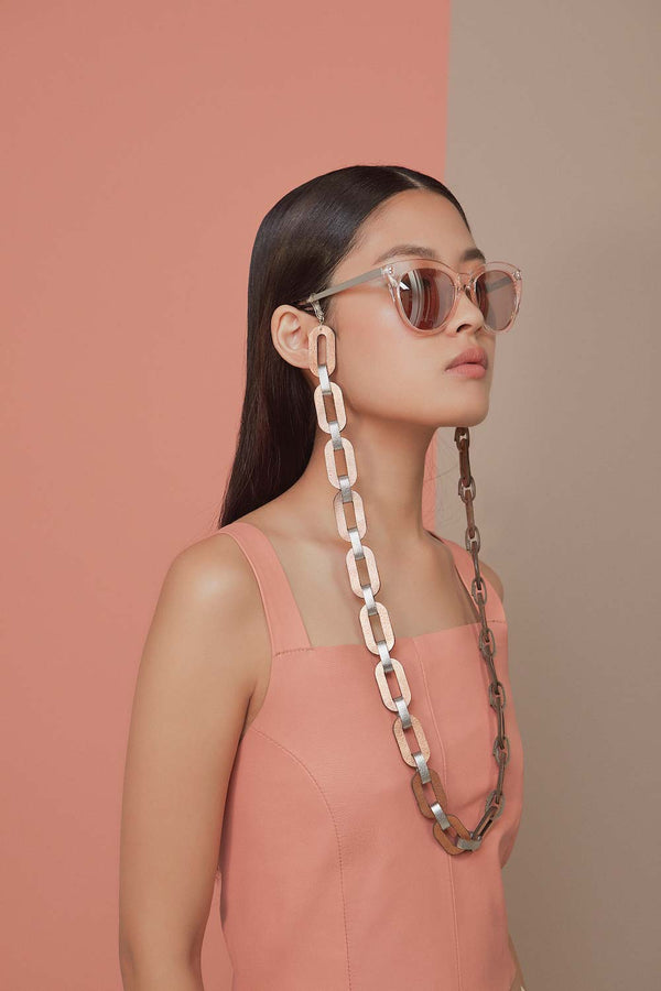 Rainbow Eyeglasses Chain - Silver & Rose Gold