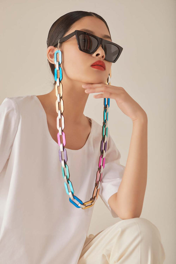 Rainbow Eyeglasses Chain - Rainbow Colors