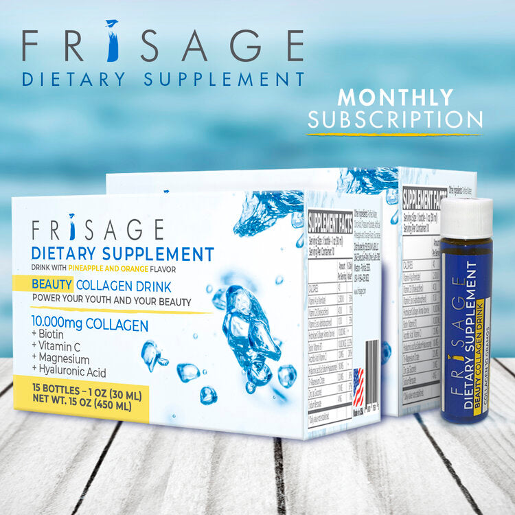 FRISAGE™ Collagen Drink Supplement Monthly Subscription