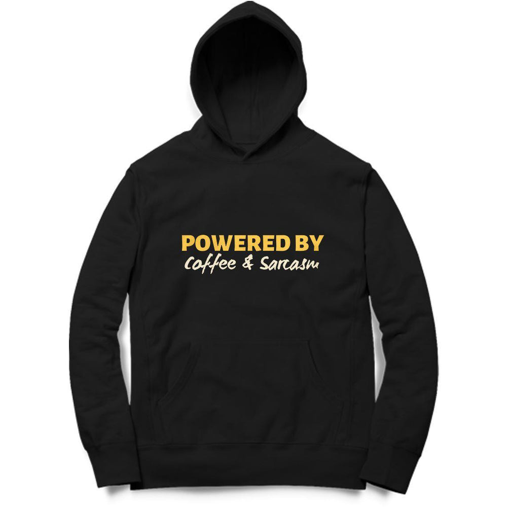 Powered By Coffee And Sarcasm Hoodie