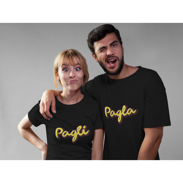 Pagla And Pagli Couple T-Shirt