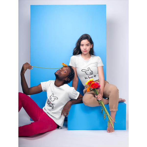 She Loves Compliments and He Loves Me Couple T-Shirt - Chimp Tribe