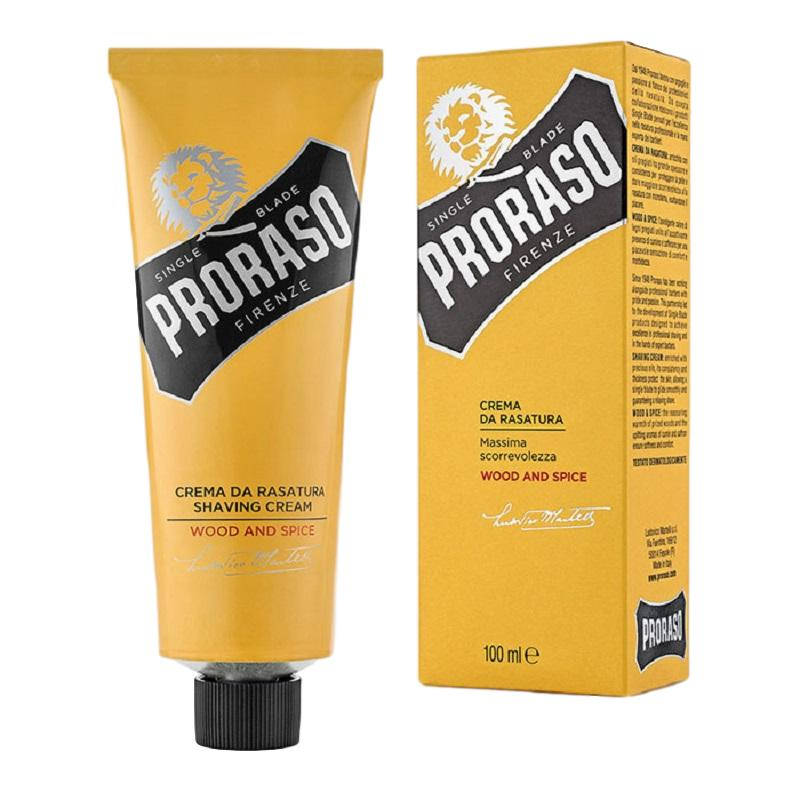Proraso Wood & Spice Single Blade Shaving Cream 100ml - Shaving Station