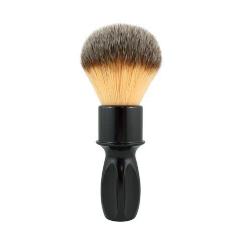 RazoRock 400 Glossy Black Aluminium Synthetic Shaving Brush - Shaving Station