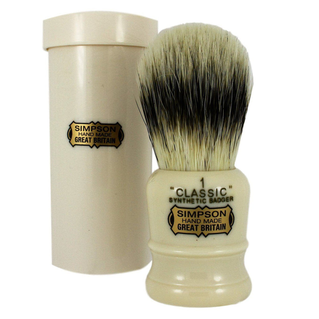 Simpsons Classic 1 Synthetic Shaving Brush - Shaving Station