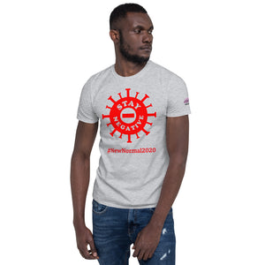 New Normal - Stay Negative - Red - Short-Sleeve Unisex T-Shirt