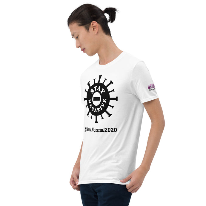 New Normal - Stay Negative - Black - Short-Sleeve Unisex T-Shirt