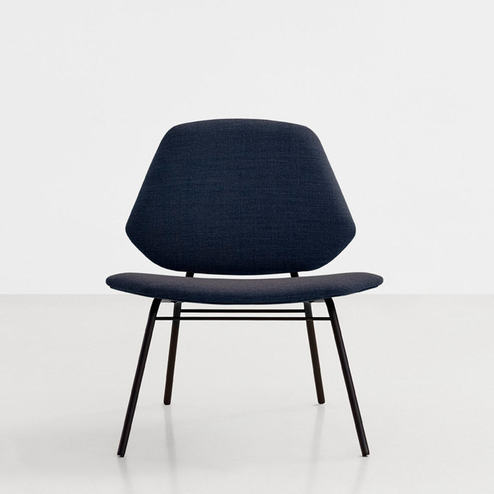 Lean Lounge Chair Dark Blue Koperhuis