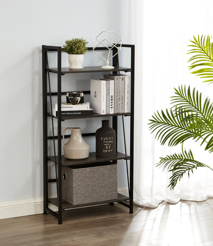 foldable storage shelf  taupe brown-ver1