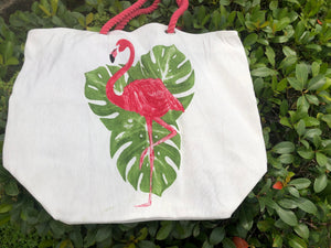 Flamingo Leaf Tote Bag
