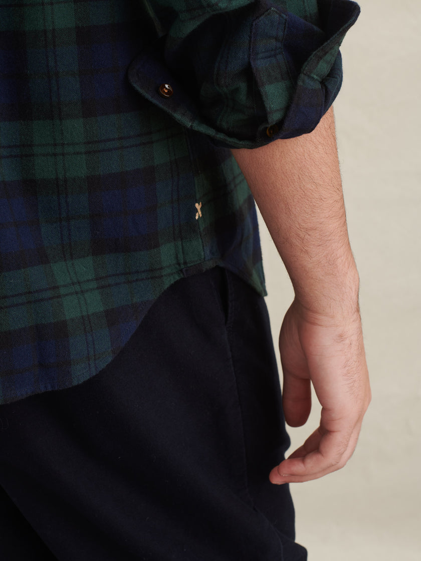 Standard Flannel Shirt in Black Watch Plaid
