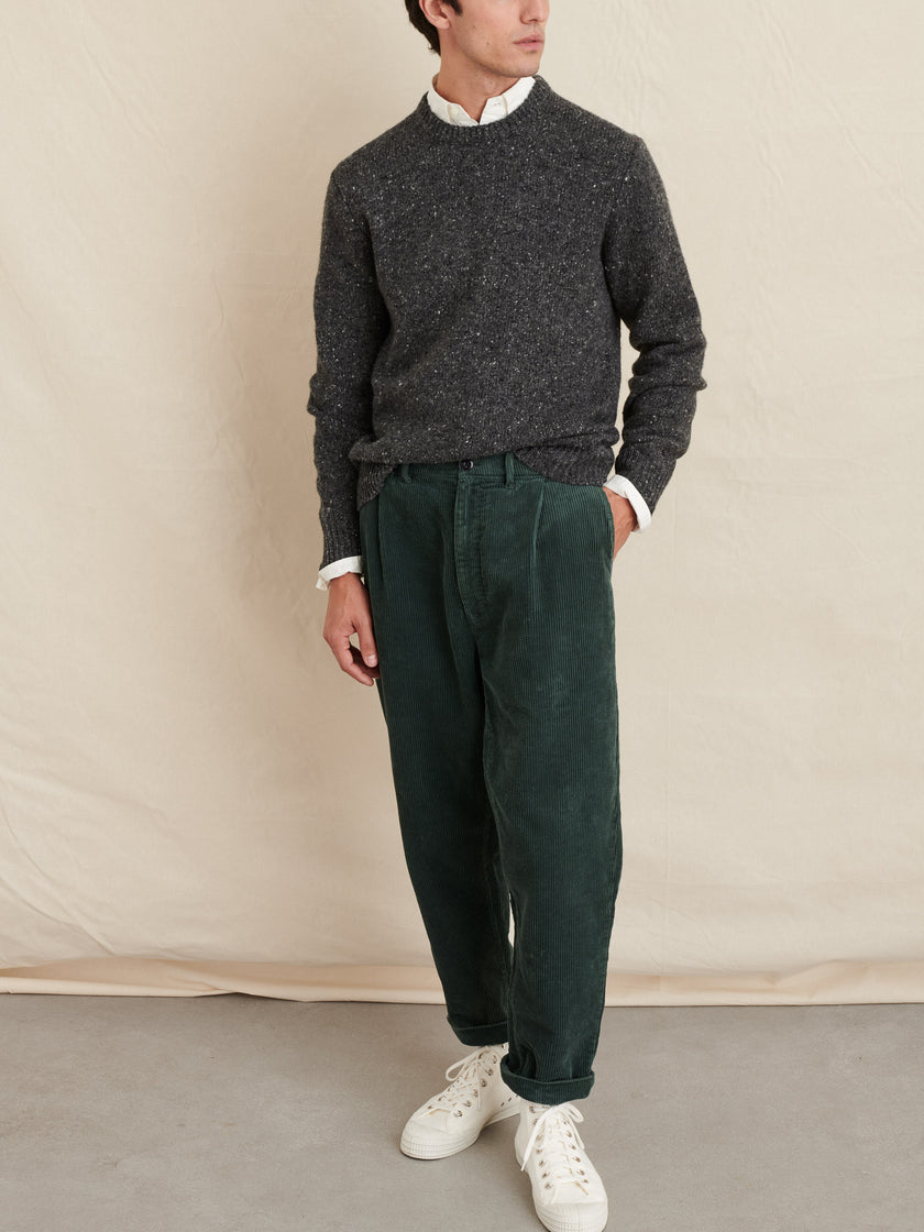 Rugged Cord Pleated Pant