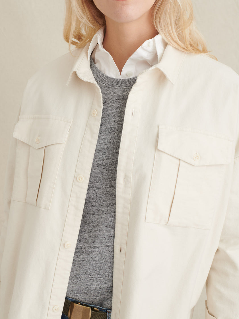 Tunic Jacket in Brushed Cotton
