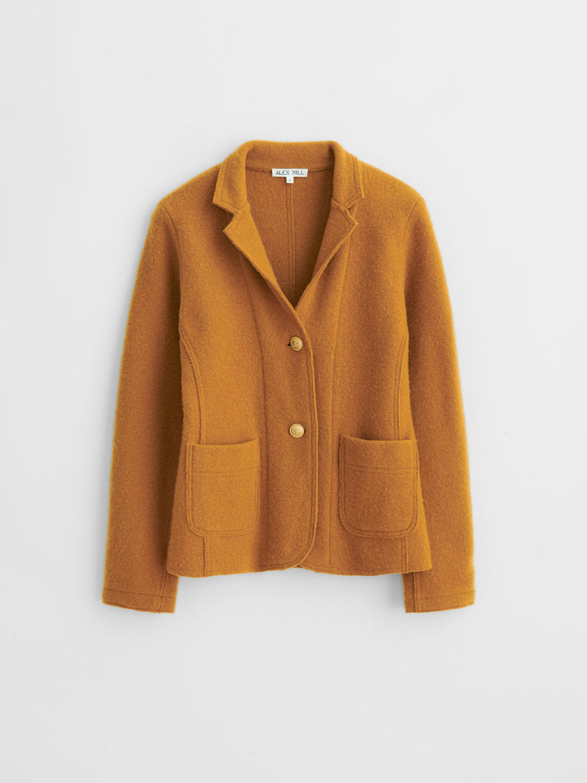 Sweater Blazer in Boiled Merino Wool