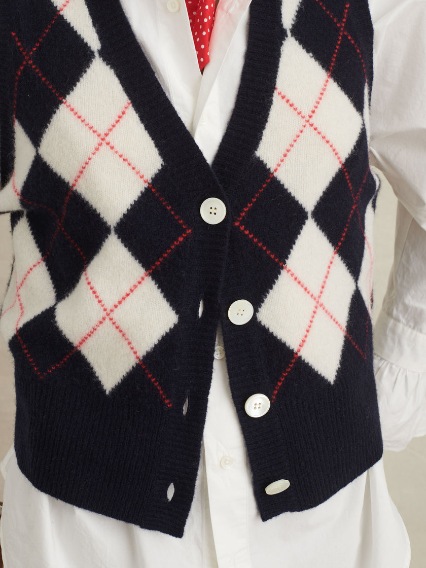 Bleecker Argyle Sweater Vest