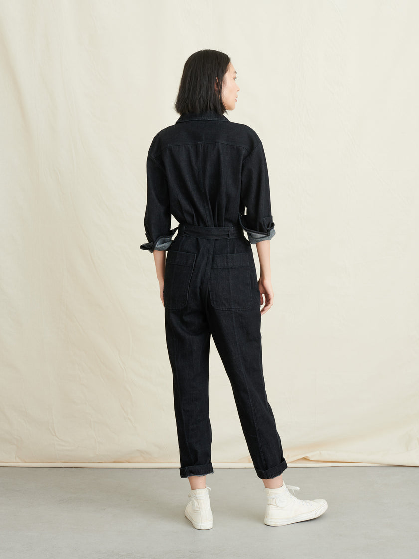 Expedition Jumpsuit in Black Denim